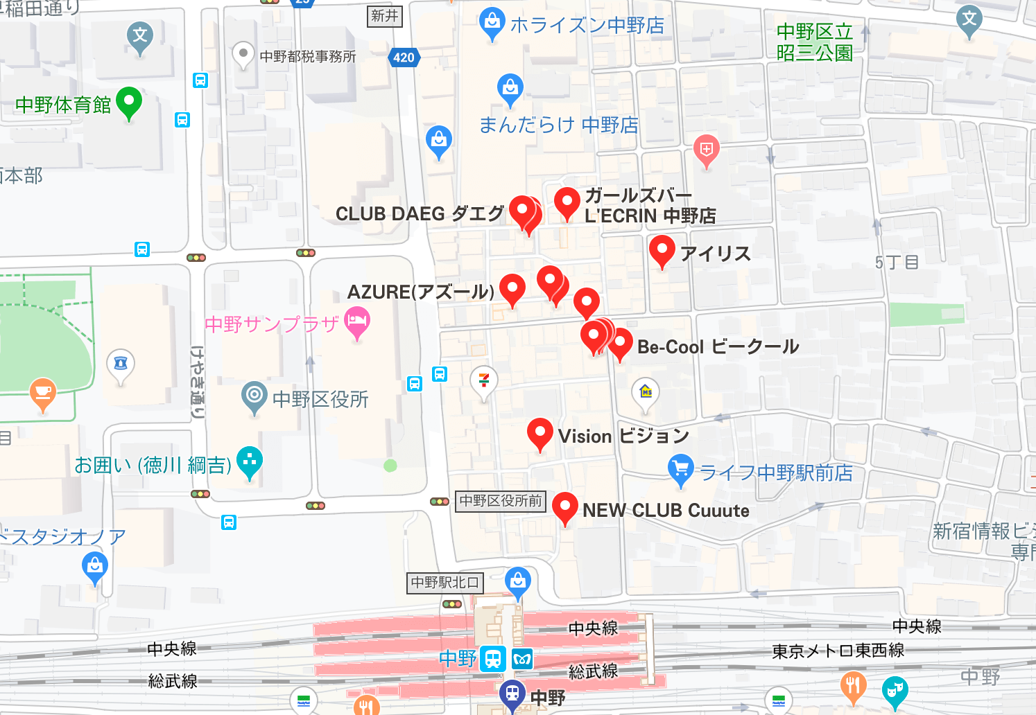 中野 夜遊び