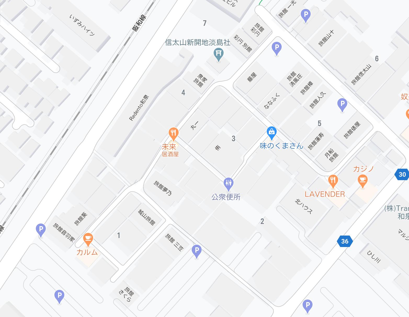 信太山新地 マップ