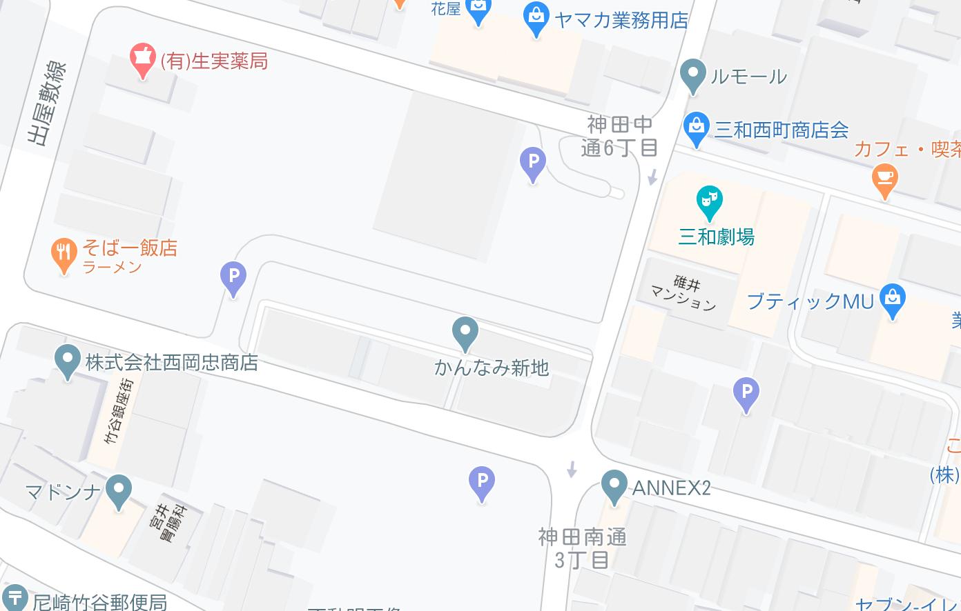 かんなみ新地 駐車場